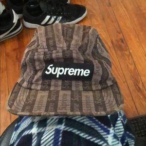 Black and Gray Supreme Camp Hat Fall 2009